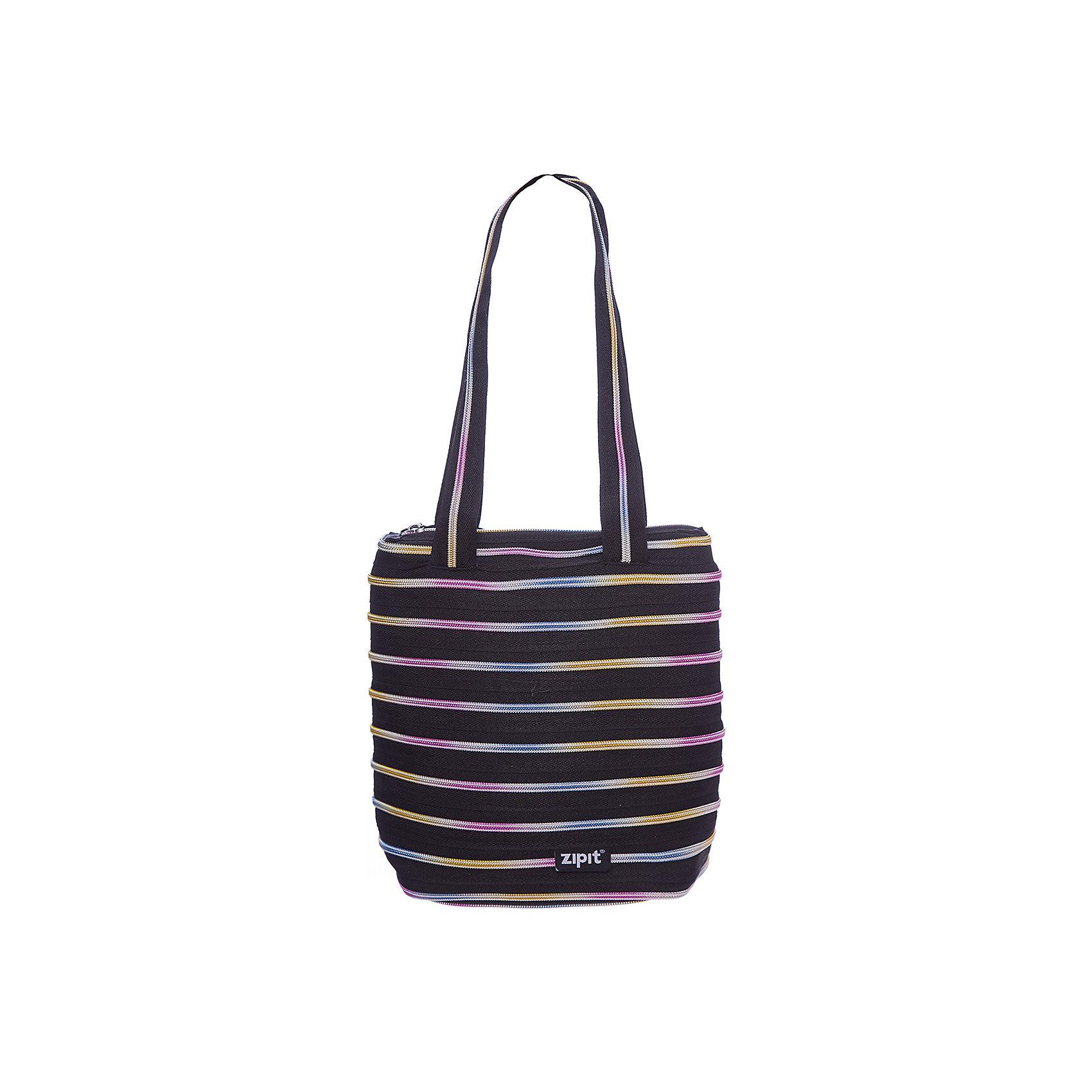 Сумка Premium Tote/Beach Bag, цвет черный/мультиДетские сумки<br>Характеристики товара:<br><br>• цвет: черный/мульти;<br>• возраст: от 7 лет;<br>• вес: 0,2 кг;<br>• размер: 28х10х28 см;<br>• сумочка имеет одно вместительное отделение;<br>• изготовлена из застежки-молнии;<br>• молнию можно полностью расстегнуть;<br>• удлиненные ручки для переноски в руке или на плече;<br>• материал: полиэстер;<br>• страна бренда: США;<br>• страна изготовитель: Китай.<br><br>Молодежная сумка Zipit «Premium Tote Beach Bag» очень необычная. Она сделана из молнии! Молния закручена по спирали и это делает сумку совершенно уникальной. При этом сумка очень функциональная и легка в уходе.<br><br>Сумку «Premium Tote Beach Bag» можно купить в нашем интернет-магазине.<br><br>Ширина мм: 280<br>Глубина мм: 100<br>Высота мм: 280<br>Вес г: 200<br>Возраст от месяцев: 84<br>Возраст до месяцев: 180<br>Пол: Унисекс<br>Возраст: Детский<br>SKU: 7054153