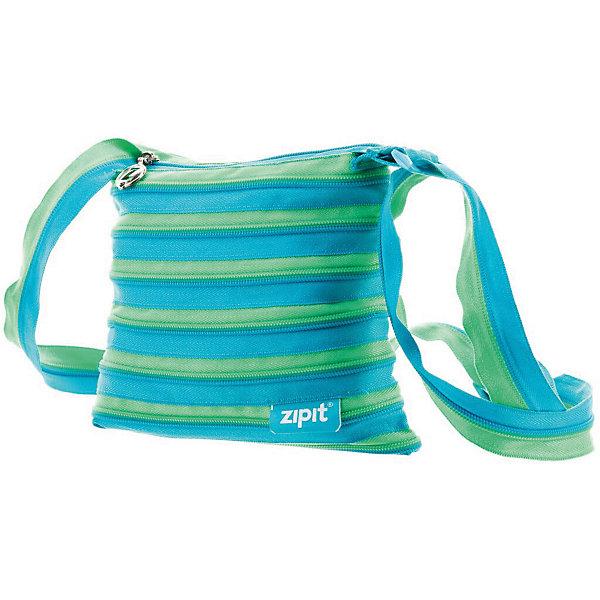 Сумка Medium Shoulder Bag, цвет голубой/салатовый