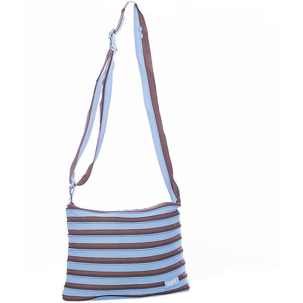 Сумка Medium Shoulder Bag, цвет голубой/коричневыйДетские сумки<br>Характеристики товара:<br><br>• цвет: голубой/коричневый;<br>• возраст: от 7 лет;<br>• вес: 0,2 кг;<br>• размер: 30х3х22 см;<br>• сумочка имеет одно вместительное отделение;<br>• изготовлена из застежки-молнии;<br>• молнию можно полностью расстегнуть;<br>• удлиненные ручки для переноски в руке или на плече;<br>• материал: полиэстер;<br>• страна бренда: США;<br>• страна изготовитель: Китай.<br><br>Молодежная сумка Zipit «Medium Shoulder Bag» очень необычная. Она сделана из молнии! Молния закручена по спирали и это делает сумку совершенно уникальной. При этом сумка очень функциональная и легка в уходе.<br><br>Сумку «Medium Shoulder Bag» можно купить в нашем интернет-магазине.<br>Ширина мм: 300; Глубина мм: 30; Высота мм: 220; Вес г: 200; Возраст от месяцев: 84; Возраст до месяцев: 180; Пол: Унисекс; Возраст: Детский; SKU: 7054155;