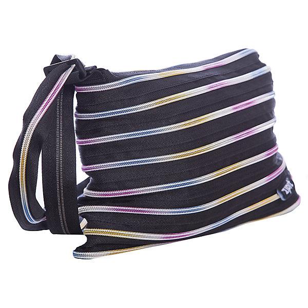 Сумка Medium Shoulder Bag, цвет черный/мультиДетские сумки<br>Характеристики товара:<br><br>• цвет: черный/мульти;<br>• возраст: от 7 лет;<br>• вес: 0,2 кг;<br>• размер: 30х3х22 см;<br>• сумочка имеет одно вместительное отделение;<br>• изготовлена из застежки-молнии;<br>• молнию можно полностью расстегнуть;<br>• удлиненные ручки для переноски в руке или на плече;<br>• материал: полиэстер;<br>• страна бренда: США;<br>• страна изготовитель: Китай.<br><br>Молодежная сумка Zipit «Medium Shoulder Bag» очень необычная. Она сделана из молнии! Молния закручена по спирали и это делает сумку совершенно уникальной. При этом сумка очень функциональная и легка в уходе.<br><br>Сумку «Medium Shoulder Bag» можно купить в нашем интернет-магазине.<br><br>Ширина мм: 300<br>Глубина мм: 30<br>Высота мм: 220<br>Вес г: 200<br>Возраст от месяцев: 84<br>Возраст до месяцев: 180<br>Пол: Унисекс<br>Возраст: Детский<br>SKU: 7054156