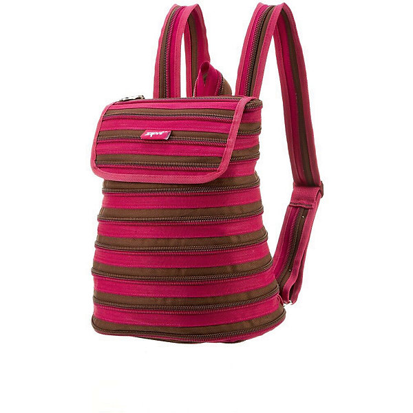 Рюкзак ZIPPER BACKPACK, цвет розовый/коричневый