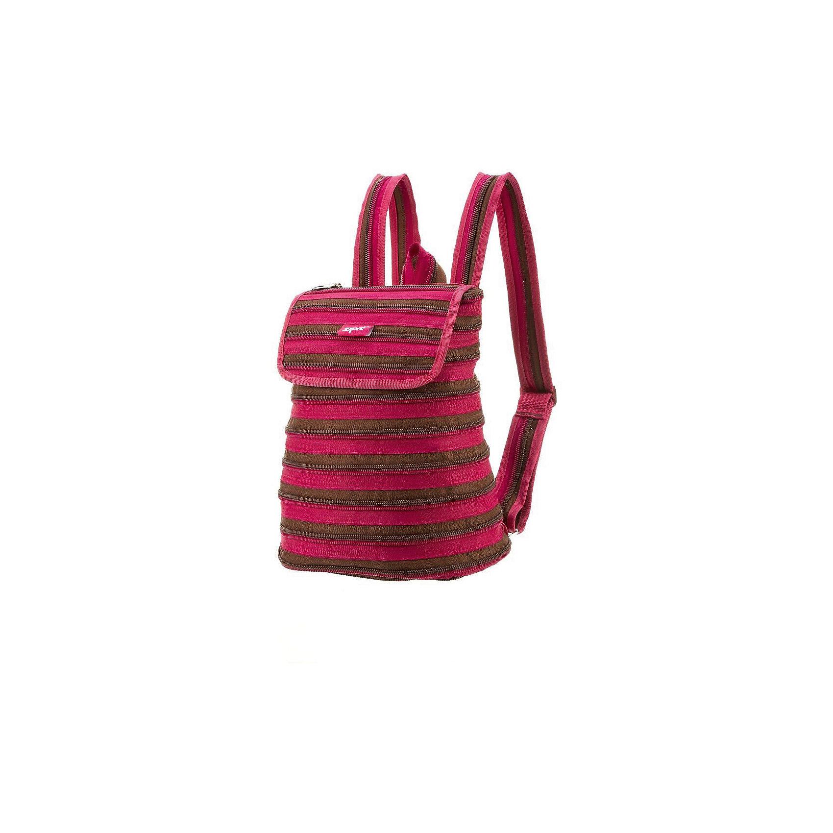Рюкзак ZIPPER BACKPACK, цвет розовый/коричневыйРюкзаки<br>Характеристики товара:<br><br>• цвет: розовый/коричневый;<br>• возраст: от 7 лет;<br>• вес: 0,3 кг;<br>• размер: 32х13х33 см;<br>• просторное внутреннее отделение с несколькими карманами;<br>• изготовлен из застежки-молнии;<br>• молнию можно полностью расстегнуть;<br>• закрывается на молнию и на клапан на липучке;<br>• уплотненные лямки, регулируемые по длине;<br>• материал: полиэстер;<br>• страна бренда: США;<br>• страна изготовитель: Китай.<br><br>Рюкзак Zipit «Zipper Backpack» - стильный рюкзак для маленькой модницы, который подойдет для повседневной носки. Рюкзак отличается своим необычным дизайном, выполненным в виде одной молнии, которая крутится по спирали по всему рюкзаку.<br><br>Рюкзак Zipit «Zipper Backpack» можно купить в нашем интернет-магазине.<br><br>Ширина мм: 320<br>Глубина мм: 130<br>Высота мм: 330<br>Вес г: 300<br>Возраст от месяцев: 84<br>Возраст до месяцев: 480<br>Пол: Унисекс<br>Возраст: Детский<br>SKU: 7054157