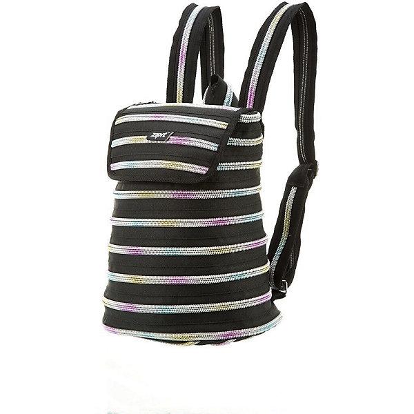 Рюкзак ZIPPER BACKPACK, цвет черный/мультиРюкзаки<br>Характеристики товара:<br><br>• цвет: черный/мульти;<br>• возраст: от 7 лет;<br>• вес: 0,3 кг;<br>• размер: 32х13х33 см;<br>• просторное внутреннее отделение с несколькими карманами;<br>• изготовлен из застежки-молнии;<br>• молнию можно полностью расстегнуть;<br>• закрывается на молнию и на клапан на липучке;<br>• уплотненные лямки, регулируемые по длине;<br>• материал: полиэстер;<br>• страна бренда: США;<br>• страна изготовитель: Китай.<br><br>Рюкзак Zipit «Zipper Backpack» - стильный рюкзак для маленькой модницы, который подойдет для повседневной носки. Рюкзак отличается своим необычным дизайном, выполненным в виде одной молнии, которая крутится по спирали по всему рюкзаку.<br><br>Рюкзак Zipit «Zipper Backpack» можно купить в нашем интернет-магазине.<br>Ширина мм: 320; Глубина мм: 130; Высота мм: 330; Вес г: 300; Возраст от месяцев: 84; Возраст до месяцев: 480; Пол: Унисекс; Возраст: Детский; SKU: 7054158;
