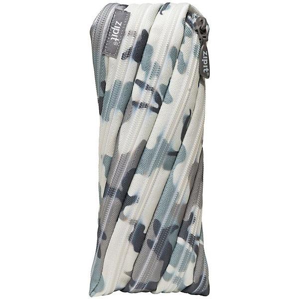Пенал-сумочка CAMO POUCH, цвет серый камуфляжПеналы без наполнения<br>Характеристики товара:<br><br>• цвет: серый камуфляж;<br>• возраст: от 3 лет;<br>• вес: 0,1 кг;<br>• размер: 22х2х10 см;<br>• одно отделение на молнии;<br>• изготовлен из длинной молнии;<br>• молнию можно полностью расстегнуть;<br>• необычный дизайн; <br>• материал: полиэстер;<br>• страна бренда: США;<br>• страна изготовитель: Китай.<br><br>Zipit пенал-сумочка «CAMO POUCH» - удобен для разных мелочей и для пишущих принадлежностей. Изготовлен из 1 длинной молнии. <br><br>Пенал-сумочка «Camo Pouch» можно купить в нашем интернет-магазине.<br><br>Ширина мм: 220<br>Глубина мм: 20<br>Высота мм: 100<br>Вес г: 100<br>Возраст от месяцев: 36<br>Возраст до месяцев: 720<br>Пол: Унисекс<br>Возраст: Детский<br>SKU: 7054163