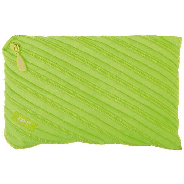 Пенал-сумочка NEON JUMBO POUCH, цвет лаймПеналы без наполнения<br>Характеристики товара:<br><br>• цвет: лайм;<br>• возраст: от 3 лет;<br>• вес: 0,1 кг;<br>• размер: 23х2х15 см;<br>• одно вместительное отделение;<br>• изготовлен из длинной молнии;<br>• молнию можно полностью расстегнуть;<br>• материал: полиэстер;<br>• страна бренда: США;<br>• страна изготовитель: Китай.<br><br>Этот пенал из гибкой молнии выполнен в приятном лаймовом оттенке. Стоит обратить внимание на его практичный размер и форму, надежную застежку и вместительность. <br><br>Аксессуар вполне может послужить не только школьникам! Его можно использовать как косметичку, сумку для мелочей, чехол для техники. Стильные детали и актуальная расцветка – это дополнительные плюсы модели. <br><br>Пенал-сумочка «Neon Jumbo Pouch» можно купить в нашем интернет-магазине.<br><br>Ширина мм: 230<br>Глубина мм: 20<br>Высота мм: 150<br>Вес г: 100<br>Возраст от месяцев: 36<br>Возраст до месяцев: 720<br>Пол: Унисекс<br>Возраст: Детский<br>SKU: 7054175