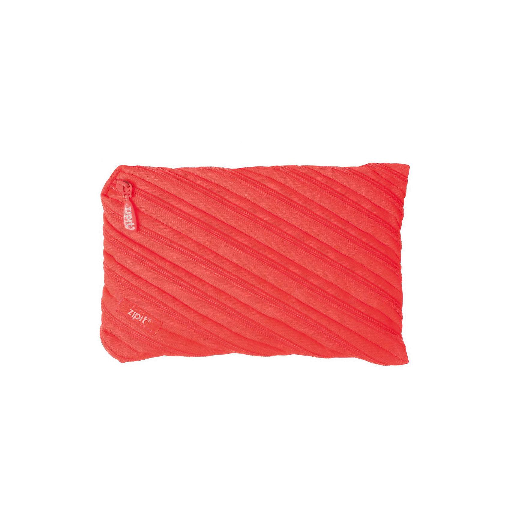 Пенал-сумочка NEON JUMBO POUCH, цвет персиковыйПеналы без наполнения<br>Характеристики товара:<br><br>• цвет: персиковый;<br>• возраст: от 3 лет;<br>• вес: 0,1 кг;<br>• размер: 23х2х15 см;<br>• одно вместительное отделение;<br>• изготовлен из длинной молнии;<br>• молнию можно полностью расстегнуть;<br>• материал: полиэстер;<br>• страна бренда: США;<br>• страна изготовитель: Китай.<br><br>Этот пенал из гибкой молнии выполнен в приятном персиковом оттенке. Стоит обратить внимание на его практичный размер и форму, надежную застежку и вместительность. <br><br>Аксессуар вполне может послужить не только школьникам! Его можно использовать как косметичку, сумку для мелочей, чехол для техники. Стильные детали и актуальная расцветка – это дополнительные плюсы модели. <br><br>Пенал-сумочка «Neon Jumbo Pouch» можно купить в нашем интернет-магазине.<br><br>Ширина мм: 230<br>Глубина мм: 20<br>Высота мм: 150<br>Вес г: 100<br>Возраст от месяцев: 36<br>Возраст до месяцев: 720<br>Пол: Унисекс<br>Возраст: Детский<br>SKU: 7054176