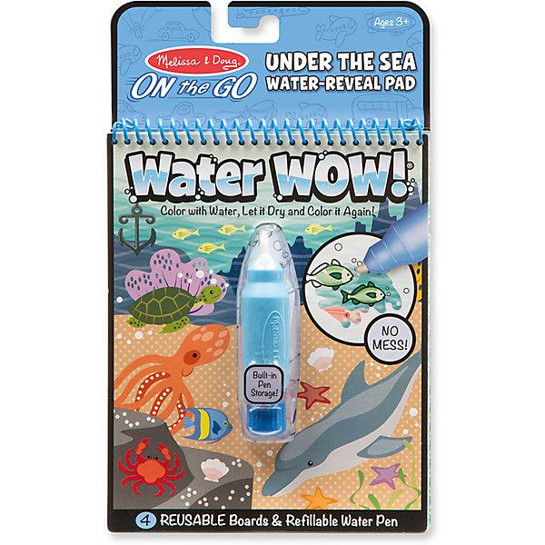 Водная раскраска  Океан, Melissa &amp; DougВодные раскраски<br>Характеристики товара:<br><br>• возраст: от 3 лет;<br>• размер: 25х15х3 см;<br>• комплект: блокнот с 4 картинками, наполняемый водой фломастер;<br>• материал: картон, пластик;<br>• упаковка: блистер;<br>• страна обладатель бренда: США.<br><br>Этот блокнот-раскраска водой включает в себя четыре многоразовые страницы и многоразовую ручку с  водой. <br><br>Необходимо лишь наполнить стержень ручки водой и провести ею по картинке и цвета начнут проявляться, а картинка оживать! Потом дайте странице высохнуть, цвета исчезнут и можно начинать раскрашивать снова и снова. <br><br>Эта книга с изображением животных включает в себя четыре различные сцены для раскрашивания. Водяная ручка сделана такого размера, чтобы удобно было ребенку держать ее в руках. <br><br>Раскраску Рисуем водой : Океан можно купить в нашем интернет-магазине.<br><br>Ширина мм: 30<br>Глубина мм: 150<br>Высота мм: 250<br>Вес г: 1814<br>Возраст от месяцев: 36<br>Возраст до месяцев: 2147483647<br>Пол: Унисекс<br>Возраст: Детский<br>SKU: 7054916