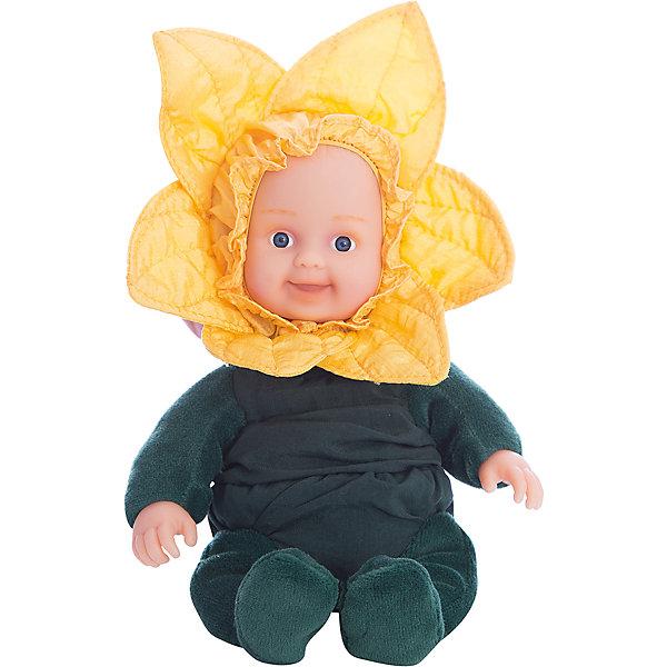 Мягкая кукла Unimax Anne Geddes. Детки-нарцисы, 30 смКуклы<br>Характеристики:<br><br>• возраст: от 18 месяцев<br>• высота игрушки: 22,9 см.<br>• материал: винил, текстиль<br><br>Очаровательная кукла из серии «Детки-нарциссы» создана компанией Unimax (Унимакс) на основании профессиональных снимков детского фотографа Анны Геддес, которой удалось запечатлеть на своих фотографиях радость, любовь и счастье, присущие детям.<br><br>Младенец в костюме нарцисса имеет мягкое набивное тельце. Лицо и ручки изготовлены из высококачественного винила. Костюм представлен комбинезоном тёмно-зелёного цвета и оригинальным головным убором в виде бутона цветка нежно-жёлтого цвета (костюм не снимается). У куклы милые, тщательно проработанные черты лица, выразительные широко распахнутые глаза, притягательная завораживающая улыбка. Кукла приятна для тактильных ощущений, ребёнок с удовольствием будет брать её на ручки, прижимая к себе.<br><br>Кукла изготовлена из экологически чистых, гиппоаллергенных материалов. Она подойдет не только в качестве игрушки для ребёнка, но и в качестве приятного подарка.<br><br>Мягкую куклу UNIMAX  Anne Geddes Детки-нарцисы коллекция Престиж можно купить в нашем интернет-магазине.<br><br>Ширина мм: 180<br>Глубина мм: 120<br>Высота мм: 240<br>Вес г: 400<br>Возраст от месяцев: 18<br>Возраст до месяцев: 2147483647<br>Пол: Унисекс<br>Возраст: Детский<br>SKU: 7054922