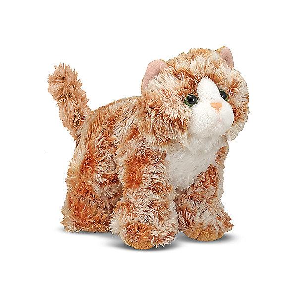 Мягкая игрушка Melissa&amp;Doug Рыжий кот Трикси, 13 смМягкие игрушки животные<br>Характеристики:<br><br>• возраст: от 3 лет<br>• размер: 19х13х9 см.<br>• материал: текстиль, наполнитель<br><br>Этого забавного котенка, оранжевого цвета, зовут Трикси. Котенок очень игривый, любит ласку и заботу. Он станет настоящим любимцем малыша. У Трикси мягкая приятная на ощупь шерстка, миловидная мордашка, веселые глазки зеленого цвета. Его сразу хочется крепко обнять и прижать к себе. В Трикси просто невозможно не влюбиться.<br><br>Игрушка изготовлена из сертифицированного текстильного материала высокого качества, а внутри у нее – мягкий гиппоаллергенный, хорошо восстанавливающий форму наполнитель.. Игрушка легко стирается.<br><br>Мягкую игрушку Melissa&amp;Doug Рыжий кот Трикси можно купить в нашем интернет-магазине.<br>Ширина мм: 190; Глубина мм: 90; Высота мм: 120; Вес г: 90; Возраст от месяцев: 36; Возраст до месяцев: 2147483647; Пол: Унисекс; Возраст: Детский; SKU: 7054924;