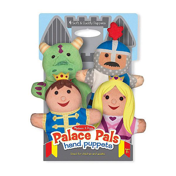 Набор мягких кукол на руку Melissa&amp;Doug Замок, 4 штМягкие игрушки на руку<br>Характеристики:<br><br>• возраст: от 2 лет<br>• в наборе: 4.перчаточные куклы<br>• материал: текстиль<br>• размер упаковки: 37х22х7 см.<br>• вес: 204 гр.<br><br>Набор «Замок» состоит из 4 перчаточных кукол: принцессы, принца, рыцаря и дракона. Куклы легко одеваются на руку и просты в применении. Они отлично подойдут для небольших театральных представлений.<br><br>Игра в театр развивает воображение и речь ребенка, помогает познавать мир. И вообще это просто весело.<br><br>Набор изготовлен из высокопрочной ткани, отличающейся высоким уровнем качества и не вызывающей аллергических реакций. Допускается стирка кукол в стиральной машине.<br><br>Плюшевые куклы на руку Melissa&amp;Doug Замок можно купить в нашем интернет-магазине.<br>Ширина мм: 220; Глубина мм: 70; Высота мм: 370; Вес г: 204; Возраст от месяцев: 24; Возраст до месяцев: 2147483647; Пол: Унисекс; Возраст: Детский; SKU: 7054931;