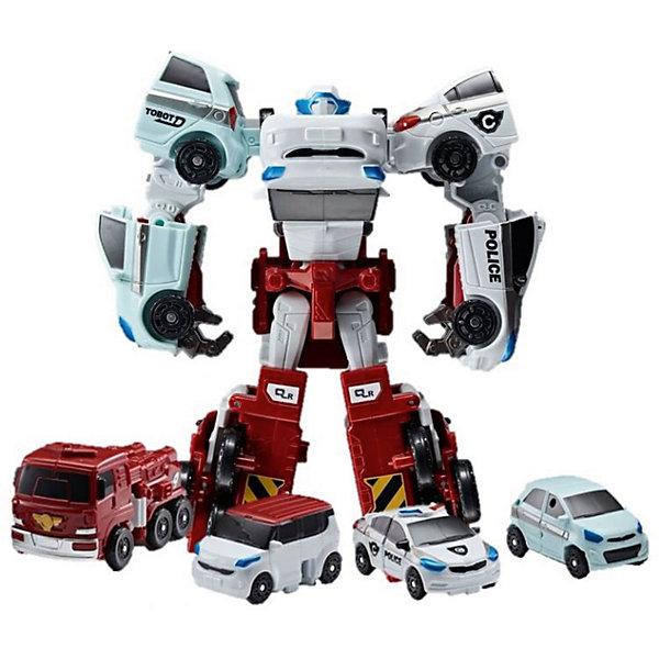 Робот-трансформер Yuong toys Мини-Тобот, КватранТрансформеры-игрушки<br>Характеристики:<br><br>• Вес в упаковке: 900г.;<br>• Материал: пластик;<br>• Упоковка: картон;<br>• размер упаковки: 16,9х9,4х19,7см.;<br>• для детей в возрасте: от 4 лет.;<br>• страна производитель: Китай.<br><br>Робот-трасформер «Мини Тобот» Кватран бренда «Young tous» (Юнг тоус) прекрасный подарок для мальчишек. Это настоящий персонаж любимого мультика «Тобот» робота воина. Он создан из высококачественных, экологически чистых материалов, что очень важно для детских товаров.<br><br>Киберг очень просто собирается из четырех машинок с помощью ключа, прилагающегося в комплекте. Все детали надёжно соединяются друг с другом, поэтому трансформировать его можно много раз. Машинки имеют оптимальные размеры, и широкие подвижные колёса играть ими можно отдельно. Набор состоит из красной пожарной машины и трех легковых бренда КИА.<br><br>Играя в конструктор дети смогут развивать фантазию, внимательность, логическое и пространственное мышление, моторику рук, усидчивость, терпение, просто весело и с пользой проведут время.     <br><br>Робот-трасформер «Мини Тобот» Кватран бренда «Young tous» (Юнг тоус), можно купить в нашем интернет-магазине.<br><br>Ширина мм: 105<br>Глубина мм: 220<br>Высота мм: 280<br>Вес г: 503<br>Возраст от месяцев: 48<br>Возраст до месяцев: 2147483647<br>Пол: Мужской<br>Возраст: Детский<br>SKU: 7058482