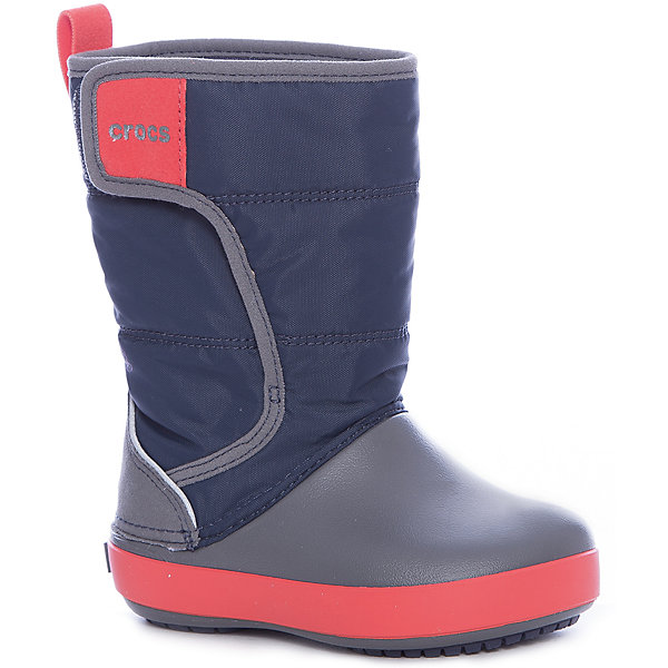 Сноубутсы LodgePoint Snow Boot KСноубутсы<br>Характеристики товара:<br><br>• цвет: серый<br>• внешний материал: водоотталкивающий нейлон<br>• внутренний материал: текстиль<br>• стелька: текстиль<br>• подошва: Croslite<br>• сезон: демисезон<br>• температурный режим: от -10 до +5<br>• застежка: липучка<br>• непромокаемые<br>• защита мыса <br>• подошва не скользит <br>• анатомические <br>• страна бренда: США<br>• страна производства: Китай<br><br>Популярная обувь Crocs для детей обеспечивает комфортный микроклимат ногам на весь день. Такие детские сапоги Crocs сделаны из уникального материала Croslite и прочного нейлона. Благодаря новейшим технологиям ноги в таких непромокаемых сапогах для ребенка не устают и не скользят. Детские сапоги Крокс дополнены удобной липучкой. <br><br>Сапоги LdgPtSnowBtK Crocs (Крокс) можно купить в нашем интернет-магазине.<br>Ширина мм: 257; Глубина мм: 180; Высота мм: 130; Вес г: 420; Цвет: синий; Возраст от месяцев: 18; Возраст до месяцев: 21; Пол: Унисекс; Возраст: Детский; Размер: 23,34/35,33/34,31/32,30,29,28,27,26,25,24; SKU: 7063527;