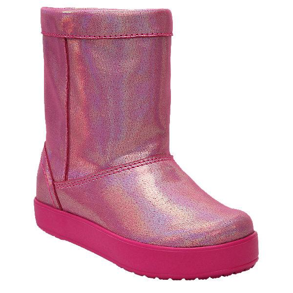 Сапоги LodgePoint Novelty Boot K для девочкиСапоги<br>Характеристики товара:<br><br>• цвет: розовый<br>• внешний материал: текстиль<br>• внутренний материал: текстиль<br>• стелька: текстиль<br>• подошва: ТЭП <br>• сезон: демисезон<br>• температурный режим: от -15 до 0<br>• застежка: нет<br>• подошва не скользит <br>• анатомические <br>• страна бренда: США<br>• страна производства: Китай<br><br>Такие детские сапоги Крокс отлично подходят для ношения в морозную погоду. Модные детские сапоги Crocs сделаны из высокотехнологичного материала. Благодаря толстой подошве такие сапоги для ребенка хорошо согревают ноги. Обувь Крокс популярна во всем мире благодаря высокому качеству и удобству. <br><br>Сапоги LodgePoint Novelty Boot K Crocs (Крокс) для девочки можно купить в нашем интернет-магазине.<br><br>Ширина мм: 257<br>Глубина мм: 180<br>Высота мм: 130<br>Вес г: 420<br>Цвет: розовый<br>Возраст от месяцев: 18<br>Возраст до месяцев: 21<br>Пол: Женский<br>Возраст: Детский<br>Размер: 23,34/35,33/34,31/32,30,29,28,27,26,25,24<br>SKU: 7063551