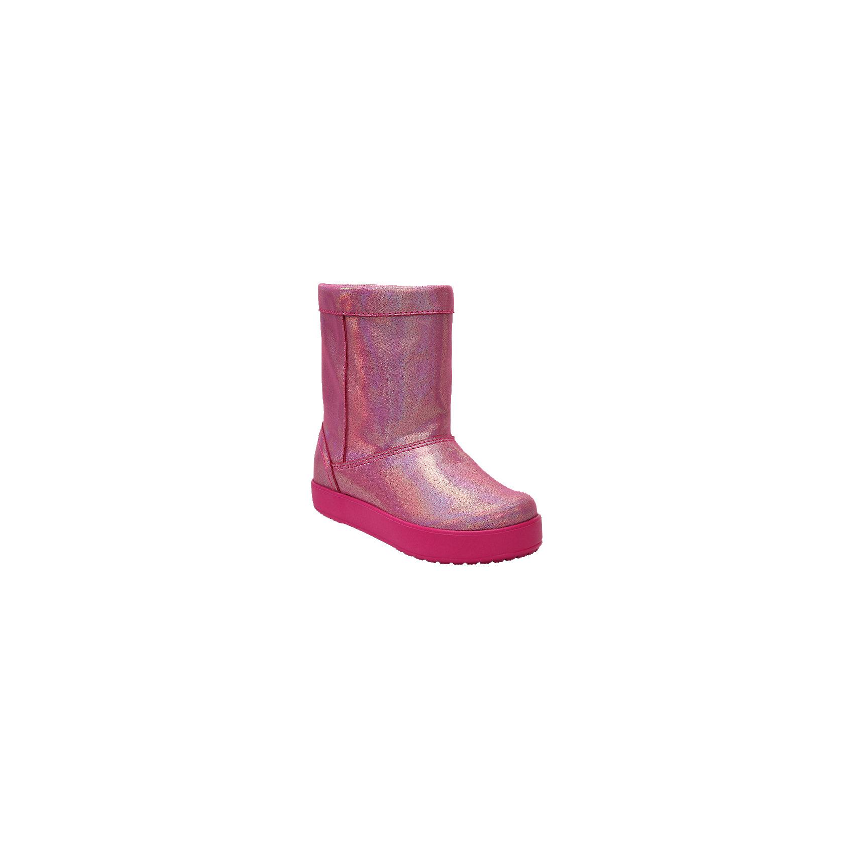 Сапоги LodgePoint Novelty Boot K для девочкиСапоги<br>Характеристики товара:<br><br>• цвет: розовый<br>• внешний материал: текстиль<br>• внутренний материал: текстиль<br>• стелька: текстиль<br>• подошва: ТЭП <br>• сезон: демисезон<br>• температурный режим: от -15 до 0<br>• застежка: нет<br>• подошва не скользит <br>• анатомические <br>• страна бренда: США<br>• страна производства: Китай<br><br>Такие детские сапоги Крокс отлично подходят для ношения в морозную погоду. Модные детские сапоги Crocs сделаны из высокотехнологичного материала. Благодаря толстой подошве такие сапоги для ребенка хорошо согревают ноги. Обувь Крокс популярна во всем мире благодаря высокому качеству и удобству. <br><br>Сапоги LodgePoint Novelty Boot K Crocs (Крокс) для девочки можно купить в нашем интернет-магазине.<br><br>Ширина мм: 257<br>Глубина мм: 180<br>Высота мм: 130<br>Вес г: 420<br>Цвет: розовый<br>Возраст от месяцев: 48<br>Возраст до месяцев: 60<br>Пол: Женский<br>Возраст: Детский<br>Размер: 28,29,30,31/32,33/34,34/35,23,24,25,26,27<br>SKU: 7063551