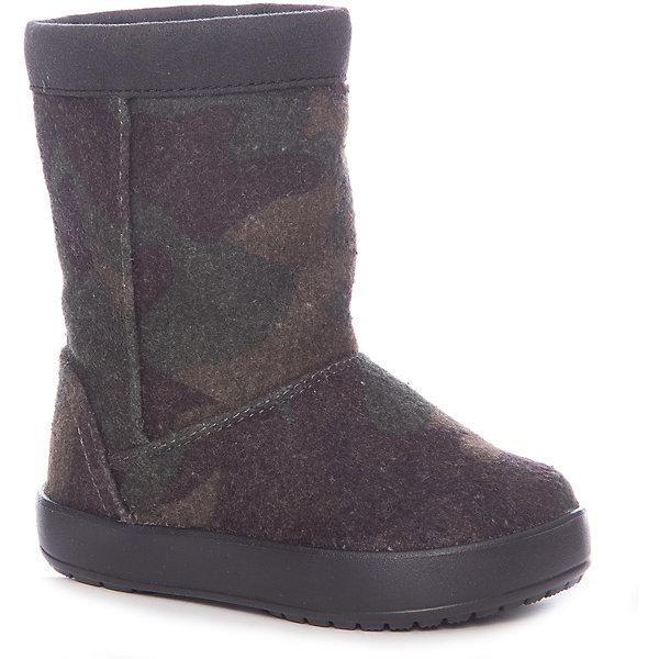 Сапоги LodgePoint Novelty Boot K для девочкиСапоги<br>Характеристики товара:<br><br>• цвет: хаки<br>• внешний материал: текстиль<br>• внутренний материал: текстиль<br>• стелька: текстиль<br>• подошва: ТЭП <br>• сезон: демисезон<br>• температурный режим: от -15 до 0<br>• застежка: нет<br>• подошва не скользит <br>• анатомические <br>• страна бренда: США<br>• страна производства: Китай<br><br>Детские сапоги Крокс выполнены в практичной модной расцветке. Популярная обувь Crocs для детей обеспечивает комфортный микроклимат ногам на весь день. Такие детские сапоги Crocs сделаны из прочного высокотехнологичного материала. Благодаря новейшим технологиям ноги в таких непромокаемых сапогах для ребенка не устают и не скользят. <br><br>Сапоги LodgePoint Novelty Boot K Crocs (Крокс) можно купить в нашем интернет-магазине.<br>Ширина мм: 257; Глубина мм: 180; Высота мм: 130; Вес г: 420; Цвет: хаки; Возраст от месяцев: 18; Возраст до месяцев: 21; Пол: Женский; Возраст: Детский; Размер: 23,34/35,33/34,31/32,30,29,28,27,26,25,24; SKU: 7063563;