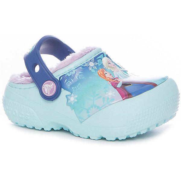 Сабо CrocsFunLab Lined Frozen Clog для девочкиПляжная обувь<br>Характеристики товара:<br><br>• цвет: голубой<br>• внешний материал: Croslite<br>• внутренний материал: искусственный мех<br>• стелька: искусственный мех<br>• подошва: Croslite<br>• сезон: круглый год<br>• пяточный ремешок: поворотный<br>• защита мыса <br>• подошва не скользит <br>• анатомические <br>• страна бренда: США<br>• страна производства: Китай<br><br>Эти детские сабо Крокс с меховой вкладкой украшены принтом из мультфильма. Обувь Крокс популярна во всем мире благодаря высокому качеству и удобству. Детские сабо Crocs сделаны из высокотехнологичного материала Croslite. Благодаря новейшим технологиям такие сабо для ребенка принимают форму ноги и обеспечивают комфорт на весь день. <br><br>Сабо FunLab Lined Frozen Clog Crocs (Крокс) для девочки можно купить в нашем интернет-магазине.<br><br>Ширина мм: 225<br>Глубина мм: 139<br>Высота мм: 112<br>Вес г: 290<br>Цвет: голубой<br>Возраст от месяцев: 132<br>Возраст до месяцев: 144<br>Пол: Женский<br>Возраст: Детский<br>Размер: 34/35,23,24,25,26,27,28,29,30,31/32,33/34<br>SKU: 7063575