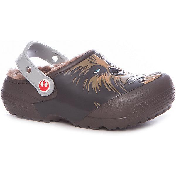 Сабо CrocsFunLab Lined Chewbacca для мальчикаПляжная обувь<br>Характеристики товара:<br><br>• цвет: коричневый<br>• материал: Croslite<br>• стелька: с массажными линиями <br>• сезон: лето<br>• пяточный ремешок: поворотный<br>• защита мыса <br>• подошва не скользит <br>• анатомические <br>• страна бренда: США<br>• страна производства: Китай<br><br>Детские сабо Крокс украшены принтом с любимым детским персонажем. Популярная обувь Crocs для детей обеспечивает комфортный микроклимат ногам на весь день. Удобные сабо Crocs сделаны из уникального материала Croslite. Благодаря новейшим технологиям ноги в таких сабо для ребенка не устают и не скользят. <br><br>Сабо FunLab Lined Chewbacca Crocs (Крокс) для девочки можно купить в нашем интернет-магазине.<br>Ширина мм: 225; Глубина мм: 139; Высота мм: 112; Вес г: 290; Цвет: коричневый; Возраст от месяцев: 120; Возраст до месяцев: 132; Пол: Мужской; Возраст: Детский; Размер: 33/34,31/32,30,29,28,27,26,25,24,23,34/35; SKU: 7063627;