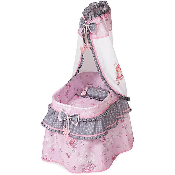 Кроватка с балдахином DeCuevas МарияМебель для кукол<br>Кроватка идентична настоящей кроватки для малышей, двойная юбка- оборка  нежно- розового цвета с розовыми рюшками и бантиками и подушечкой. Шикарный балдахин из высококачественного текстиля с рисунком девочки -аниме<br><br>Ширина мм: 370<br>Глубина мм: 600<br>Высота мм: 1000<br>Вес г: 2500<br>Возраст от месяцев: 36<br>Возраст до месяцев: 2147483647<br>Пол: Женский<br>Возраст: Детский<br>SKU: 7065301