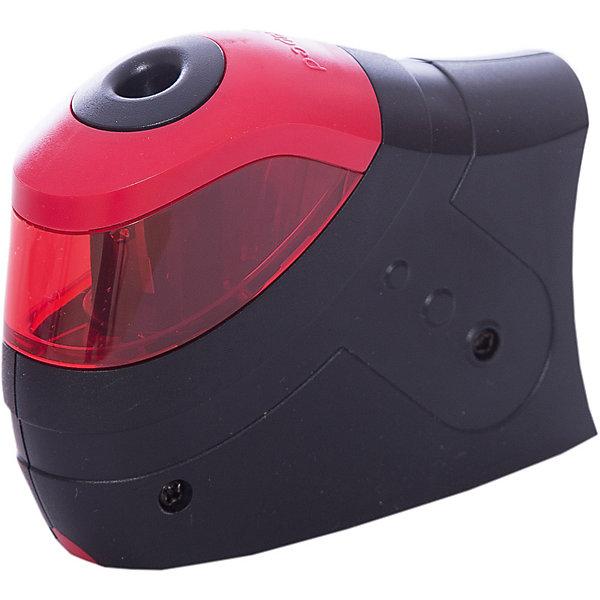 Точилка Maped Turbo Twist, электрическая 1 отверстиеПисьменные принадлежности<br>Характеристики:<br><br>• возраст: от 3 лет<br>• комплектация: точилка, 2 запасных лезвия (прикручены рядом с основным изнутри)<br>• количество отверстий: 1<br>• материал корпуса: пластик<br>• материал лезвия: металл<br>• размер: 10,5x8х3 см.<br>• батарейки: 4 типа АА<br>• наличие батареек: в комплект не входят<br>• диаметр карандашей: до 8,2 мм.<br><br>Электрическая точилка «Turbo Twist» имеет одно отверстие с острым стальным лезвием, которое обеспечивает высококачественную и точную заточку. Карандаш затачивается легко и аккуратно, а опилки после заточки остаются в съемном боксе для сбора стружки. Предусмотрено антискользящее покрытие. Может использоваться как обычная ручная точилка (нужно просто вынуть красную часть).<br><br>MAPED Точилку электрическую, 1 диаметр, 2 лезвия Turbo Twist можно купить в нашем интернет-магазине.<br><br>Ширина мм: 41<br>Глубина мм: 108<br>Высота мм: 112<br>Вес г: 124<br>Возраст от месяцев: 36<br>Возраст до месяцев: 2147483647<br>Пол: Унисекс<br>Возраст: Детский<br>SKU: 7065331