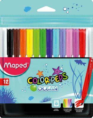 Фломастеры Maped, 12 цветов