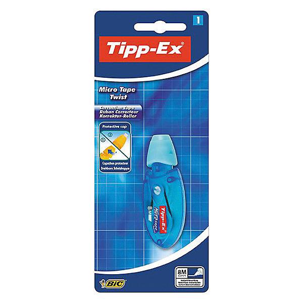 Корректирующая лента Bic Tipp-Ex Micro tape, 8 мШкольные аксессуары<br>Характеристики:<br><br>• возраст: от 5 лет<br>• ширина ленты: 5 мм.<br>• длина ленты: 8 м.<br>• материал корпуса: пластик<br>• упаковка: блистер<br>• размер упаковки: 20х7х3 см.<br><br>Корректирующая лента Bic «Tipp-Ex Micro Tape» - ультракомпактная корректура нервущейся лентой из полиэстера. Благодаря эргономичной форме корпуса корректирующая лента наносится равномерно и удобно. Аппликатор расположен под наклоном - вы видите, что корректируете. Подходит как правшам, так и левшам. Снабжена специальным перематывающим механизмом.<br><br>BIC Корректирующую ленту Tipp-Ex Micro tape, 8 м. х 5 мм, блистер можно купить в нашем интернет-магазине.<br>Ширина мм: 22; Глубина мм: 80; Высота мм: 197; Вес г: 23; Возраст от месяцев: 60; Возраст до месяцев: 2147483647; Пол: Унисекс; Возраст: Детский; SKU: 7065343;