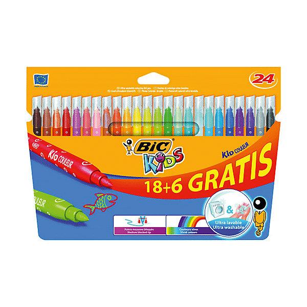 Купить Фломастеры Bic Kid Couleur , 24 цвета, Франция, Унисекс