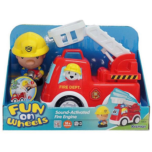 Игровой набор Keenway ПожарныйМашинки<br>Характеристики:<br><br>• Вес в упаковке: 486г.;<br>• материал: пластик, металл;<br>• тип батареек: АА;<br>• размер упаковки: 64х41х33см.;<br>• для детей в возрасте: от 18мес.;<br>• страна производитель: Китай.<br><br>Игровой набор «Пожарный» бренда» «Keenway» (Кинвей) прекрасный подарок для самых маленьких детишек. Она создана из высококачественных, экологически чистых материалов, что очень важно для детских товаров.<br><br>Игрушка ярко красного цвета привлечёт внимание малыша. Он с удовольствием будет управлять пожарной машиной с подвижной стрелой. В комплекте с машинкой находится фигурка весёлого пожарного и его друга, пёсика в каске. Машинка работает от трёх батареек, не входящих в комплект.<br> <br><br>Играя дети развивают зрительное и цветовое восприятие, фантазию, мелкую моторику.Эта игрушка полностью безопасна для маленьких детишек.<br><br>Игровой набор «Пожарный» бренда» «Keenway» (Кинвей), можно купить в нашем интернет-магазине.<br>Ширина мм: 290; Глубина мм: 125; Высота мм: 150; Вес г: 1046; Возраст от месяцев: 36; Возраст до месяцев: 60; Пол: Мужской; Возраст: Детский; SKU: 7065784;