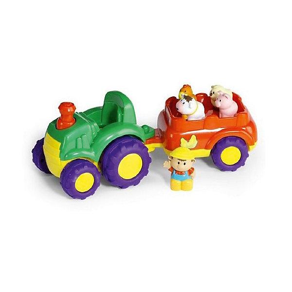 Игровой набор Keenway Трактор и трейлерМашинки<br>Характеристики:<br><br>• вес в упаковке: 1330 кг.;<br>• материал: пластик;<br>• тип батареек: АА;<br>• размер упаковки: 2х15,5х18см.;<br>• размер игрушки: 26,5х16х12см.;<br>• для детей в возрасте: от 18мес.;<br>• страна производитель: Китай.<br><br>Игровой набор «Трактор и трейлер» «Keenway» (Кинвей) прекрасный подарок для самых маленьких детишек. Она создана из высококачественных, экологически чистых материалов, что очень важно для детских товаров.<br><br>Красочная игрушка привлечёт внимание малыша звуками и мигающими лампочками. Он с удовольствием будет управлять трактором с прицепом. В комплекте с машинкой находится фигурка тракториста и его обаятельных животных. Каждое животное, когда его сажают в прицеп, издаёт свой голос.  Корова-мычит, овечка-блеет, курочка-кудахчет, свинка-хрюкает. Ребёнок может почувствовать себя фермером. Игрушка работает от двух батареек, входящих в комплект.<br> <br><br>Играя дети развивают зрительное и цветовое восприятие, фантазию, мелкую моторику.Эта игрушка полностью безопасна для маленьких детишек.<br><br>Игровой набор «Трактор и трейлер» бренда» «Keenway» (Кинвей), можно купить в нашем интернет-магазине.<br>Ширина мм: 178; Глубина мм: 406; Высота мм: 165; Вес г: 1334; Возраст от месяцев: 12; Возраст до месяцев: 36; Пол: Мужской; Возраст: Детский; SKU: 7065785;