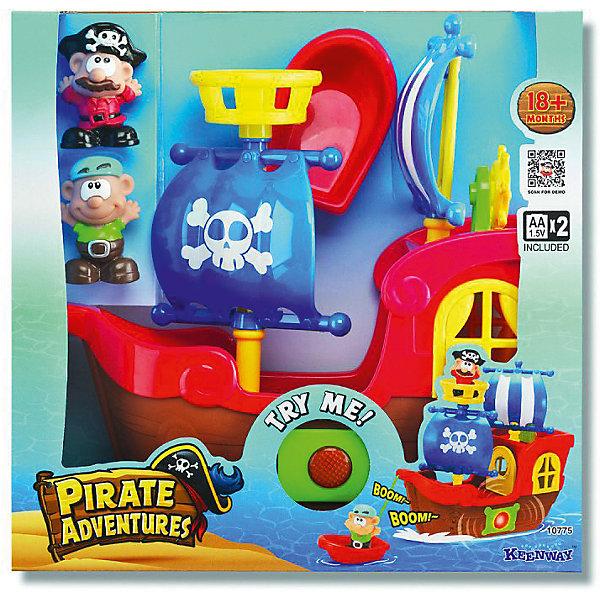 Игровой набор Keenway Приключения пиратовПираты<br>Характеристики:<br><br>• Вес в упаковке: 1,142кг.;<br>• материал: пластик;<br>• тип батареек: 2хАА;<br>• размер упаковки: 31,1х31,7х13,3см.;<br>• для детей в возрасте: от 1г.;<br>• страна производитель: Китай.<br><br>Игровой набор «Приключение пиратов» бренда» «Keenway» (Кинвей) прекрасный подарок для самых маленьких детишек. Она создана из высококачественных, экологически чистых материалов, что очень важно для детских товаров.<br><br>«Приключение пиратов» это настоящее морское путешествие на пиратском корабле. За штурвалом корабля стоит отважный матрос, который подаёт звуковые и световые сигналы капитану в случае опасности. Капитан находится в каюте, которой оборудован корабль. На случай кораблекрушения имеется лодка.<br> <br><br>Играя дети развивают зрительное и цветовое восприятие, фантазию, мелкую моторику.Эта игрушка полностью безопасна для маленьких детишек.<br><br>Игровой набор «Приключение пиратов» бренда» «Keenway» (Кинвей), можно купить в нашем интернет-магазине.<br>Ширина мм: 317; Глубина мм: 133; Высота мм: 311; Вес г: 1142; Возраст от месяцев: 12; Возраст до месяцев: 36; Пол: Мужской; Возраст: Детский; SKU: 7065788;