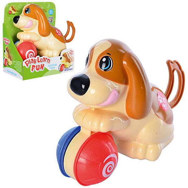 Заводная игрушка Keenway Щенок с мячикомКаталки и качалки<br>Характеристики:<br><br>• Вес в упаковке: 370г.;<br>• материал: пластик;<br>• размер упаковки: 18х10х19,5см.;<br>• для детей в возрасте: от 1г.;<br>• страна производитель: Китай.<br><br>Заводная игрушка «Щенок с мячиком» бренда» «Keenway» (Кенвей) прекрасный подарок для самых маленьких детишек. Она создана из высококачественных, экологически чистых материалов, что очень важно для детских товаров.<br><br>Привлекательная, яркая игрушка надолго привлечёт внимание малыша. Он с удовольствием будет крутить хвостик у красивого щеночка, чтобы он начал двигаться. Играть в игрушку можно вместе с малышом, что повышает его двигательнуу активность.<br> <br><br>Играя дети развивают зрительное и цветовое восприятие, мелкую моторику.Эта игрушка полностью безопасна для самых маленьких детишек.<br><br>Заводная игрушка «Щенок с мячиком» бренда» «Keenway» (Кенвей), можно купить в нашем интернет-магазине.<br>Ширина мм: 177; Глубина мм: 101; Высота мм: 196; Вес г: 388; Возраст от месяцев: 12; Возраст до месяцев: 2147483647; Пол: Унисекс; Возраст: Детский; SKU: 7065790;