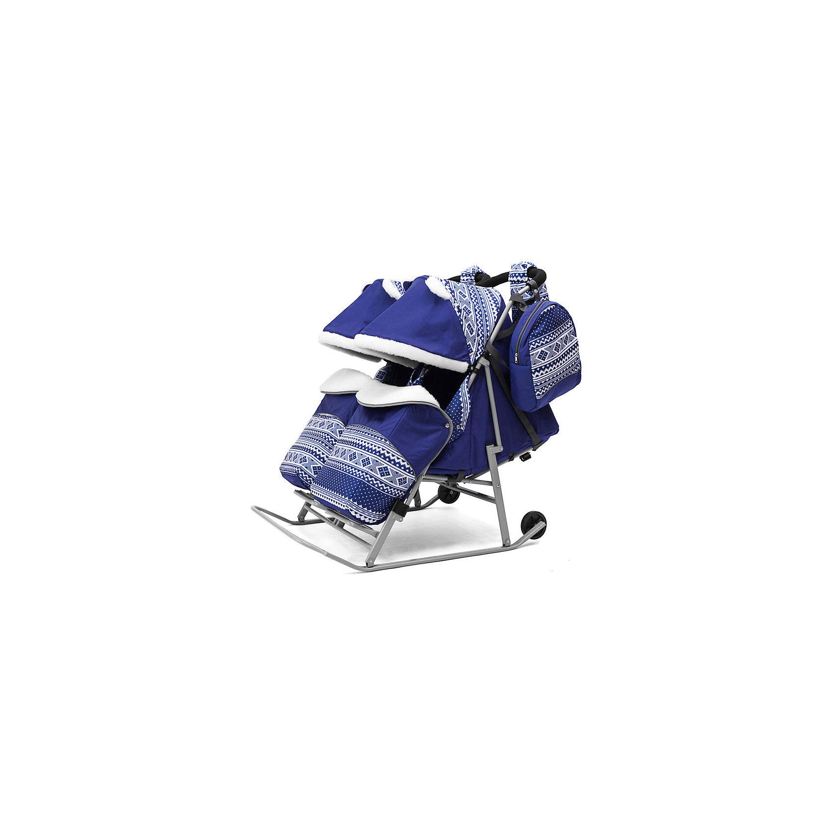 Санки-коляска для двойни ABC Academy 2В Твин Скандинавия на серой раме, синийСанки-коляски<br>Характеристики:<br><br>• санки-коляски для двойни;<br>• независимое раскладывание спинок, регулирование капюшонов, отдельные накидки на ножки и конверты;<br>• автоматический механизм сложения;<br>• регулируемая спинка сиденья, 3 позиции наклона;<br>• система 5-ти точечных ремней безопасности;<br>• защитный бампер перед ребенком;<br>• большой капюшон декорирован меховыми ушками;<br>• капюшон и накидка с меховой отделкой;<br>• алюминиевая подножка, диаметр перекладины  4 см;<br>• диаметр полозьев: 3 см;<br>• высота родительской ручки регулируется;<br>• диаметр колес 12 см;<br>• обрезиненные колеса;<br>• тип складывания: книжка;<br>• санки-коляска складывается вместе с капюшоном и накидкой на ножки;<br>• в комплекте муфта для рук, сумка для мамы, чехол на ножки, меховой конверт с прорезями для ремней безопасности;<br>• тип крепления: на кнопках;<br>• допустимая нагрузка: до 60 кг;<br>• ширина каждого сидения: 38 см;<br>• размер санок для двойни: 120х80х40 см;<br>• материал: металл, полиэстер, водоотталкивающий материал дюспа.<br><br>Санки-коляску ABC academy Скандинавия 2В ТвинСиний на серой раме можно купить в нашем интернет-магазине.<br><br>Ширина мм: 1200<br>Глубина мм: 820<br>Высота мм: 200<br>Вес г: 12800<br>Цвет: синий<br>Возраст от месяцев: 0<br>Возраст до месяцев: 36<br>Пол: Унисекс<br>Возраст: Детский<br>SKU: 7068128