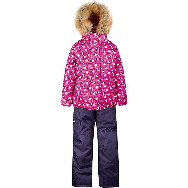 Купить Комплект: куртка и полукомбинезон Gusti для девочки, Китай, розовый, 82, 123, 119, 112, 75, 104, 100, 96, 89, 85, Женский