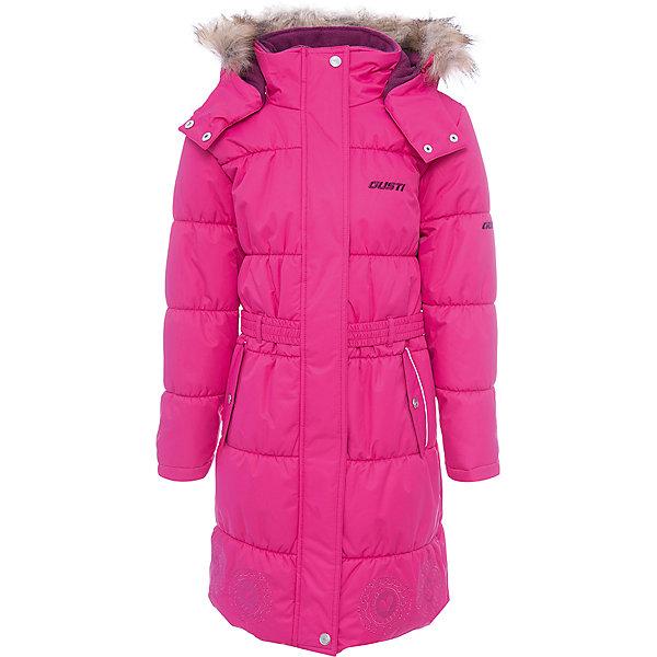 Пальто Gusti для девочкиВерхняя одежда<br>Характеристики товара:<br><br>• цвет: розовый <br>• состав ткани: твил<br>• подкладка: флис coolquick<br>• утеплитель: тек-полифилл<br>• сезон: зима<br>• мембранное покрытие<br>• температурный режим: от -30 до +5<br>• водонепроницаемость: 5000 мм <br>• паропроницаемость: 5000 г/м2<br>• плотность утеплителя: грудь и спина 280г/м2, рукава 170г/м2<br>• капюшон: с опушкой, съемный<br>• застежка: молния<br>• страна бренда: Канада<br>• страна изготовитель: Китай<br><br>Розовое детское пальто для зимы мало весит, но греет при этом хорошо даже в сильные морозы. Пальто для девочки дополнено мягкой приятной на ощупь подкладкой. Удобный капюшон зимнего детского пальто отстегивается. <br><br>Пальто Gusti (Густи) для девочки можно купить в нашем интернет-магазине.<br>Ширина мм: 356; Глубина мм: 10; Высота мм: 245; Вес г: 519; Цвет: розовый; Возраст от месяцев: 36; Возраст до месяцев: 48; Пол: Женский; Возраст: Детский; Размер: 104,158,112,119,123,127,134,142,150; SKU: 7069037;