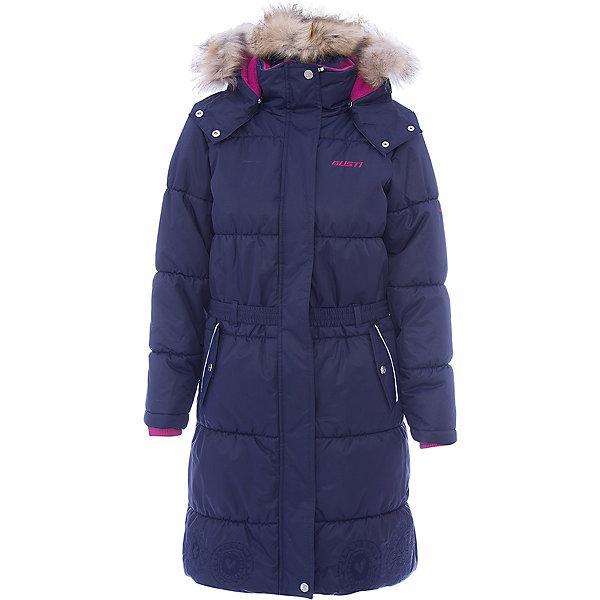Пальто Gusti для девочкиВерхняя одежда<br>Характеристики товара:<br><br>• цвет: синий <br>• состав ткани: твил<br>• подкладка: флис coolquick<br>• утеплитель: тек-полифилл<br>• сезон: зима<br>• мембранное покрытие<br>• температурный режим: от -30 до +5<br>• водонепроницаемость: 5000 мм <br>• паропроницаемость: 5000 г/м2<br>• плотность утеплителя: грудь и спина 280г/м2, рукава 170г/м2<br>• капюшон: с опушкой, съемный<br>• застежка: молния<br>• страна бренда: Канада<br>• страна изготовитель: Китай<br><br>Теплое детское пальто стильно выглядит и легко чистится. Такое пальто для зимы отличается мягкой приятной на ощупь подкладкой, верхнее покрытие зимнего пальто для девочки на продувается ветром и не промокает. Это теплое пальто для ребенка позволяет коже дышать. <br><br>Пальто Gusti (Густи) для девочки можно купить в нашем интернет-магазине.<br><br>Ширина мм: 356<br>Глубина мм: 10<br>Высота мм: 245<br>Вес г: 519<br>Цвет: синий<br>Возраст от месяцев: 36<br>Возраст до месяцев: 48<br>Пол: Женский<br>Возраст: Детский<br>Размер: 104,158,150,142,134,127,123,119,112<br>SKU: 7069047