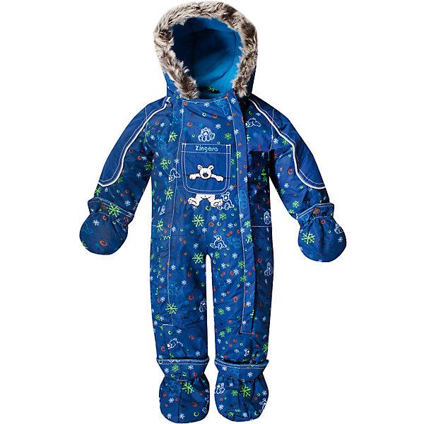 Комбинезон Zingaro by Gusti для мальчикаВерхняя одежда<br>Характеристики товара:<br><br>• цвет: синий<br>• состав ткани: таслан<br>• подкладка: флис coolquick<br>• утеплитель: тек-полифилл<br>• сезон: зима<br>• мембранное покрытие<br>• температурный режим: от -30 до +5<br>• водонепроницаемость: 2000 мм <br>• паропроницаемость: 2000 г/м2<br>• плотность утеплителя: 230г/м2<br>• пинетки и рукавицы: съемные<br>• капюшон: с опушкой, несъемный<br>• застежка: молния<br>• страна бренда: Канада<br>• страна изготовитель: Китай<br><br>Практичный мембранный комбинезон Zingaro by Gusti by Gusti для мальчика сделан легкого, но теплого материала. Зимний комбинезон для ребенка отличается стильным дизайном. Верх детского комбинезона также обеспечит защиту от грязи, влаги и ветра. Подкладка детского комбинезона для зимы приятная на ощупь. <br><br>Комбинезон Zingaro by Gusti (Зингаро) для мальчика можно купить в нашем интернет-магазине.<br><br>Ширина мм: 356<br>Глубина мм: 10<br>Высота мм: 245<br>Вес г: 519<br>Цвет: синий<br>Возраст от месяцев: 12<br>Возраст до месяцев: 18<br>Пол: Мужской<br>Возраст: Детский<br>Размер: 75,71,68,85,82<br>SKU: 7069083