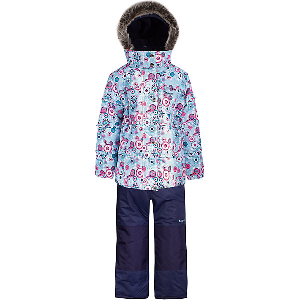 Комплект: куртка и полукомбинезон Zingaro by Gusti для девочкиВерхняя одежда<br>Характеристики товара:<br><br>• цвет: синий/голубой<br>• комплектация: куртка и полукомбинезон <br>• состав ткани: таслан<br>• подкладка: куртка - флис coolquick, брюки - 100% полиэстер<br>• утеплитель: тек-полифилл<br>• сезон: зима<br>• мембранное покрытие<br>• температурный режим: от -30 до +5<br>• водонепроницаемость: 5000 мм <br>• паропроницаемость: 5000 г/м2<br>• плотность утеплителя: грудь и спина 230г/м2, рукава и брюки 170г/м2<br>• застежка: молния<br>• страна бренда: Канада<br>• страна изготовитель: Китай<br><br>Этот комплект для зимы усилен износостойкими накладками. Такой теплый комплект для девочки позволяет коже дышать. Плотный верх детской зимней куртки и полукомбинезона Zingaro by Gusti не промокает и не продувается. Приятная на ощупь мягкая подкладка детского комплекта для зимы делает его очень комфортным.<br><br>Комплект: куртка и полукомбинезон Zingaro by Gusti (Зингаро) для девочки можно купить в нашем интернет-магазине.<br>Ширина мм: 356; Глубина мм: 10; Высота мм: 245; Вес г: 519; Цвет: синий; Возраст от месяцев: 6; Возраст до месяцев: 9; Пол: Женский; Возраст: Детский; Размер: 75,158,150,142,134,127,123,119,112,104,100,96,89,85,82; SKU: 7069191;