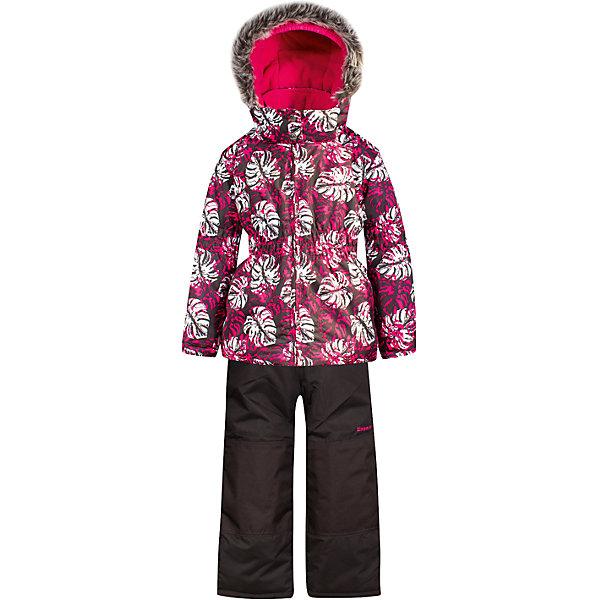 Комплект: куртка и полукомбинезон Zingaro by Gusti для девочкиВерхняя одежда<br>Характеристики товара:<br><br>• цвет: розовый<br>• комплектация: куртка и полукомбинезон <br>• состав ткани: таслан<br>• подкладка: куртка - флис coolquick, брюки - 100% полиэстер<br>• утеплитель: тек-полифилл<br>• сезон: зима<br>• мембранное покрытие<br>• температурный режим: от -30 до +5<br>• водонепроницаемость: 5000 мм <br>• паропроницаемость: 5000 г/м2<br>• плотность утеплителя: грудь и спина 230г/м2, рукава и брюки 170г/м2<br>• застежка: молния<br>• страна бренда: Канада<br>• страна изготовитель: Китай<br><br> Плотный верх детской зимней куртки и полукомбинезона Zingaro by Gusti не промокает и не продувается. Приятная на ощупь мягкая подкладка детского комплекта для зимы делает его очень комфортным. Этот комплект для зимы усилен износостойкими накладками. Такой теплый комплект для девочки позволяет коже дышать.<br><br>Комплект: куртка и полукомбинезон Zingaro by Gusti (Зингаро) для девочки можно купить в нашем интернет-магазине.<br><br>Ширина мм: 356<br>Глубина мм: 10<br>Высота мм: 245<br>Вес г: 519<br>Цвет: белый<br>Возраст от месяцев: 12<br>Возраст до месяцев: 18<br>Пол: Женский<br>Возраст: Детский<br>Размер: 85,89,96,100,104,112,119,123,127,134,142,75,82,150,158<br>SKU: 7069235