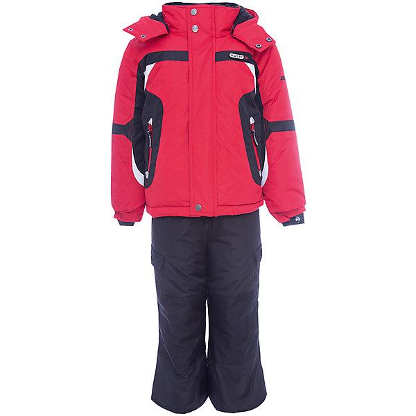 Комплект: куртка и полукомбинезон Gusti для мальчикаВерхняя одежда<br>Характеристики товара:<br><br>• цвет: красный/черный<br>• комплектация: куртка и полукомбинезон <br>• состав ткани: таслан<br>• подкладка: куртка - флис coolquick, брюки - 100% полиэстер<br>• утеплитель: тек-полифилл<br>• сезон: зима<br>• мембранное покрытие<br>• температурный режим: от -30 до +5<br>• водонепроницаемость: 5000 мм <br>• паропроницаемость: 5000 г/м2<br>• плотность утеплителя: грудь и спина 230г/м2, рукава и брюки 170г/м2<br>• застежка: молния<br>• страна бренда: Канада<br>• страна изготовитель: Китай<br><br>Приятная на ощупь мягкая подкладка детского комплекта для зимы делает его очень комфортным. Такой комплект для зимы усилен износостойкими накладками. Такой теплый комплект для мальчика позволяет коже дышать. Плотный верх детской зимней куртки и полукомбинезона не промокает и не продувается. <br><br>Комплект: куртка и полукомбинезон Gusti (Густи) для мальчика можно купить в нашем интернет-магазине.<br>Ширина мм: 356; Глубина мм: 10; Высота мм: 245; Вес г: 519; Цвет: красный; Возраст от месяцев: 12; Возраст до месяцев: 18; Пол: Мужской; Возраст: Детский; Размер: 89,158,150,142,134,127,123,119,112,104,100,96; SKU: 7070725;