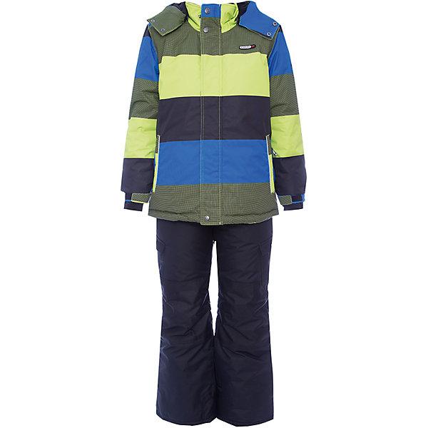Комплект: куртка и полукомбинезон Gusti для мальчикаВерхняя одежда<br>Характеристики товара:<br><br>• цвет: хаки/черный<br>• комплектация: куртка и полукомбинезон <br>• состав ткани: таслан<br>• подкладка: куртка - флис coolquick, брюки - 100% полиэстер<br>• утеплитель: тек-полифилл<br>• сезон: зима<br>• мембранное покрытие<br>• температурный режим: от -30 до +5<br>• водонепроницаемость: 5000 мм <br>• паропроницаемость: 5000 г/м2<br>• плотность утеплителя: грудь и спина 230г/м2, рукава и брюки 170г/м2<br>• застежка: молния<br>• страна бренда: Канада<br>• страна изготовитель: Китай<br><br>Такой комплект для зимы усилен износостойкими накладками. Приятная на ощупь мягкая подкладка детского комплекта для зимы делает его очень комфортным. Этот теплый комплект для мальчика позволяет коже дышать. Плотный верх детской зимней куртки и полукомбинезона не промокает и не продувается. <br><br>Комплект: куртка и полукомбинезон Gusti (Густи) для мальчика можно купить в нашем интернет-магазине.<br>Ширина мм: 356; Глубина мм: 10; Высота мм: 245; Вес г: 519; Цвет: хаки/черный; Возраст от месяцев: 12; Возраст до месяцев: 18; Пол: Мужской; Возраст: Детский; Размер: 89,158,96,100,104,112,119,123,127,134,142,150; SKU: 7070764;
