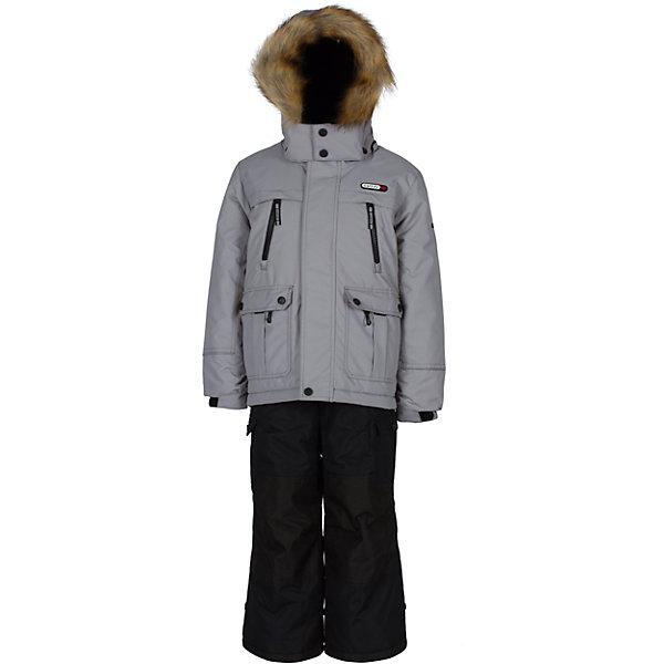 Комплект: куртка и полукомбинезон Gusti для мальчикаВерхняя одежда<br>Характеристики товара:<br><br>• цвет: серый<br>• комплектация: куртка и полукомбинезон <br>• состав ткани: таслан<br>• подкладка: куртка - флис coolquick, брюки - 100% полиэстер<br>• утеплитель: тек-полифилл<br>• сезон: зима<br>• мембранное покрытие<br>• температурный режим: от -30 до +5<br>• водонепроницаемость: 5000 мм <br>• паропроницаемость: 5000 г/м2<br>• плотность утеплителя: грудь и спина 230г/м2, рукава и брюки 170г/м2<br>• застежка: молния<br>• страна бренда: Канада<br>• страна изготовитель: Китай<br><br>Стильный мембранный комплект Gusti для мальчика сделан легкого, но теплого материала. Зимний комплект для ребенка отличается стильным дизайном. Верх детской зимней куртки и полукомбинезона также обеспечит защиту от грязи, влаги и ветра. Подкладка детского комплекта для зимы приятная на ощупь. <br><br>Комплект: куртка и полукомбинезон Gusti (Густи) для мальчика можно купить в нашем интернет-магазине.<br><br>Ширина мм: 356<br>Глубина мм: 10<br>Высота мм: 245<br>Вес г: 519<br>Цвет: серый<br>Возраст от месяцев: 36<br>Возраст до месяцев: 48<br>Пол: Мужской<br>Возраст: Детский<br>Размер: 104,158,150,142,134,127,123,119,112<br>SKU: 7070874