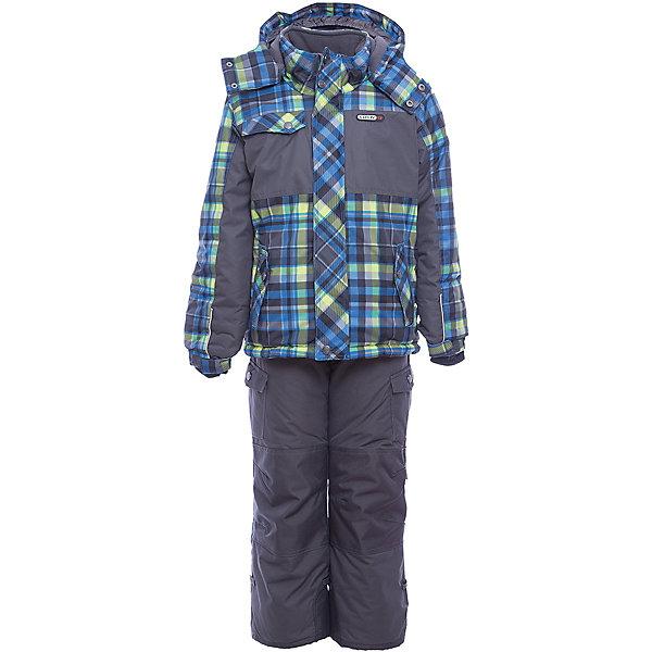 Комплект: куртка и полукомбинезон Gusti для мальчикаВерхняя одежда<br>Характеристики товара:<br><br>• цвет: сине-зеленый/черный<br>• комплектация: куртка и полукомбинезон <br>• состав ткани: таслан<br>• подкладка: куртка - флис coolquick, брюки - 100% полиэстер<br>• утеплитель: тек-полифилл<br>• сезон: зима<br>• мембранное покрытие<br>• температурный режим: от -30 до +5<br>• водонепроницаемость: 5000 мм <br>• паропроницаемость: 5000 г/м2<br>• плотность утеплителя: грудь и спина 230г/м2, рукава и брюки 170г/м2<br>• застежка: молния<br>• страна бренда: Канада<br>• страна изготовитель: Китай<br><br>Простой в уходе мембранный комплект Gusti для мальчика сделан легкого, но теплого материала. Зимний комплект для ребенка отличается стильным дизайном. Верх детской зимней куртки и полукомбинезона также обеспечит защиту от грязи, влаги и ветра. Подкладка детского комплекта для зимы приятная на ощупь. <br><br>Комплект: куртка и полукомбинезон Gusti (Густи) для мальчика можно купить в нашем интернет-магазине.<br>Ширина мм: 356; Глубина мм: 10; Высота мм: 245; Вес г: 519; Цвет: синий/зеленый; Возраст от месяцев: 12; Возраст до месяцев: 18; Пол: Мужской; Возраст: Детский; Размер: 85,112,104,100,96,89,82,75,158,150,142,134,127,123,119; SKU: 7070939;