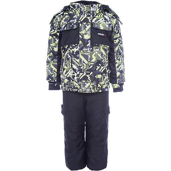 Комплект: куртка и полукомбинезон Gusti для мальчикаВерхняя одежда<br>Характеристики товара:<br><br>• цвет: зеленый<br>• комплектация: куртка и полукомбинезон <br>• состав ткани: таслан<br>• подкладка: куртка - флис coolquick, брюки - 100% полиэстер<br>• утеплитель: тек-полифилл<br>• сезон: зима<br>• мембранное покрытие<br>• температурный режим: от -30 до +5<br>• водонепроницаемость: 5000 мм <br>• паропроницаемость: 5000 г/м2<br>• плотность утеплителя: грудь и спина 230г/м2, рукава и брюки 170г/м2<br>• застежка: молния<br>• страна бренда: Канада<br>• страна изготовитель: Китай<br><br>Такой мембранный зимний комплект для ребенка отличается продуманным дизайном. Непромокаемый и непродуваемый верх детского комплекта не задерживает воздух. Модный комплект Gusti для мальчика рассчитан даже на сильные морозы. Детский комплект от канадского бренда Gusti теплый и легкий, он легко чистится.<br><br>Комплект: куртка и полукомбинезон Gusti (Густи) для мальчика можно купить в нашем интернет-магазине.<br><br>Ширина мм: 356<br>Глубина мм: 10<br>Высота мм: 245<br>Вес г: 519<br>Цвет: белый<br>Возраст от месяцев: 12<br>Возраст до месяцев: 15<br>Пол: Мужской<br>Возраст: Детский<br>Размер: 82,89,75,85,158,150,142,134,127,123,119,112,104,100,96<br>SKU: 7070971