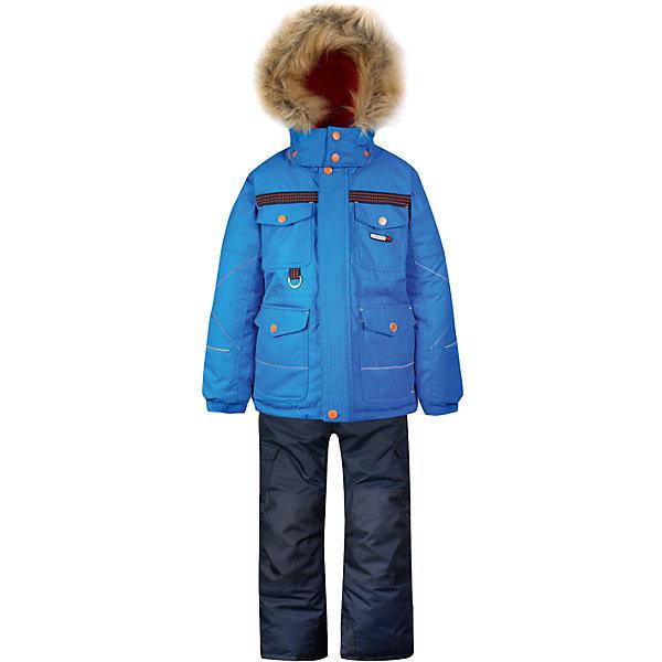 Комплект: куртка и полукомбинезон Gusti для мальчикаКомплекты<br>Характеристики товара:<br><br>• цвет: голубой<br>• комплектация: куртка и полукомбинезон <br>• состав ткани: таслан<br>• подкладка: куртка - флис coolquick, брюки - 100% полиэстер<br>• утеплитель: тек-полифилл<br>• сезон: зима<br>• мембранное покрытие<br>• температурный режим: от -30 до +5<br>• водонепроницаемость: 5000 мм <br>• паропроницаемость: 5000 г/м2<br>• плотность утеплителя: грудь и спина 230г/м2, рукава и брюки 170г/м2<br>• застежка: молния<br>• страна бренда: Канада<br>• страна изготовитель: Китай<br><br>Стильный комплект для зимы усилен износостойкими накладками. Мягкая подкладка детского комплекта для зимы делает его очень комфортным. Этот теплый комплект для мальчика позволяет коже дышать. Плотный верх детской зимней куртки и полукомбинезона не промокает и не продувается, его легко чистить. <br><br>Комплект: куртка и полукомбинезон Gusti (Густи) для мальчика можно купить в нашем интернет-магазине.<br><br>Ширина мм: 356<br>Глубина мм: 10<br>Высота мм: 245<br>Вес г: 519<br>Цвет: синий<br>Возраст от месяцев: 12<br>Возраст до месяцев: 18<br>Пол: Мужской<br>Возраст: Детский<br>Размер: 85,158,142,134,127,123,119,112,150,104,100,96,89,82,75<br>SKU: 7071003