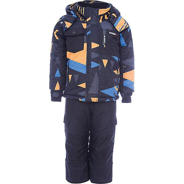 Комплект: куртка и полукомбинезон Gusti для мальчикаВерхняя одежда<br>Характеристики товара:<br><br>• цвет: черный/оранжевый<br>• комплектация: куртка и полукомбинезон <br>• состав ткани: таслан<br>• подкладка: куртка - флис coolquick, брюки - 100% полиэстер<br>• утеплитель: тек-полифилл<br>• сезон: зима<br>• мембранное покрытие<br>• температурный режим: от -30 до +5<br>• водонепроницаемость: 5000 мм <br>• паропроницаемость: 5000 г/м2<br>• плотность утеплителя: грудь и спина 230г/м2, рукава и брюки 170г/м2<br>• застежка: молния<br>• страна бренда: Канада<br>• страна изготовитель: Китай<br><br>Мембранный зимний комплект для ребенка отличается продуманным дизайном. Непромокаемый и непродуваемый верх детского комплекта не задерживает воздух. Модный комплект Gusti для мальчика рассчитан даже на сильные морозы. Детский комплект от канадского бренда Gusti теплый и легкий, он легко чистится.<br><br>Комплект: куртка и полукомбинезон Gusti (Густи) для мальчика можно купить в нашем интернет-магазине.<br>Ширина мм: 356; Глубина мм: 10; Высота мм: 245; Вес г: 519; Цвет: черный; Возраст от месяцев: 6; Возраст до месяцев: 9; Пол: Мужской; Возраст: Детский; Размер: 75,158,150,142,134,127,123,119,112,104,100,96,89,85,82; SKU: 7071019;