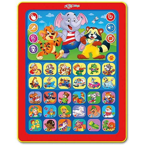 Планшетик Азбукварик УгадайкаДетские гаджеты<br>Характеристики:<br><br>• размер: 30х3х19 см.;<br>• состав: пластик;<br>• вес: 275 г.;<br>• элементы питания: батарейки ААА;<br>• для детей в возрасте: от 3 до 5 лет;<br>• страна производитель: Китай.<br><br>Этот развивающий планшет от популярного бренда «Азбукварик» отлично подойдёт для детей, которые изучают животных, виды транспорта, любят слушать стихи и сказки! Удобные большие кнопки, которые находятся под покрытием планшетика легко нажимать.  Яркие рисунки наглядно покажут ребёнку какая кнопка к какому животному относится. <br><br>Интерактивный планшет включает в себя двадцать песенок, четыре игры: «Угадай голос животного», «Какой это звук?», «Отгадай песню», «Весёлые загадки». В коллекцию планшета включены детские сказки про мамонтёнка и улыбчивого енота. Слушая сказки и стихи дети научатся правильно строить предложения, будут развивать память и произношение слов. Благодаря наличию загадок и заданий будет развиваться логическое мышление и расширяться кругозор малыша. <br><br>Планшет выполнен в соответствии со всеми необходимыми требованиями по безопасности, в нём отсутствует подсветка и съемные элементы. <br><br>Планшетик Азбукварик «Угадайка» можно купить в нашем интернет-магазине.<br>Ширина мм: 190; Глубина мм: 300; Высота мм: 20; Вес г: 275; Возраст от месяцев: 36; Возраст до месяцев: 60; Пол: Унисекс; Возраст: Детский; SKU: 7071631;