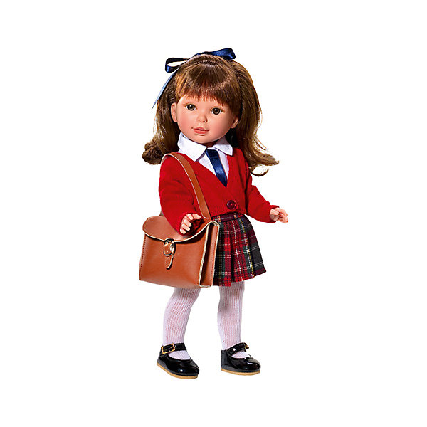 Кукла Vestida de Azul Паулина, брюнетка с челкой, волна, ШкольницаКуклы<br>Характеристики:<br><br>• вес: 700г.;<br>• материал: винил, текстиль;<br>• упаковка: коробка;<br>• Размер упаковки: 22,5х10,5х40,5см.;<br>• для детей в возрасте: от 3 лет;<br>• страна производитель: Испания.<br><br>Кукла «Паулина. Школьница» бренда Vestida de Azul (Вестида Де Азул) станет желанным подарком для маленькой девочки. Она создана из высококачественных, экологически чистых материалов, что очень важно для детских товаров.<br><br>Милая куколка с длинными густыми волосами, в шикарном наряде не оставит равнодушной ни одну девочку. Игрушка имеет оптимальный размер, её рост составляет тридцать три сантиметра. Она может стоять без поддержки, а ножки и ручки хорошо двигаются. Паулину можно брать с собой в путешествия и на прогулки, чтобы показывать подружкам и играть вместе сними.<br><br>Играя с куклой дети могут создавать свой стиль в одежде и причёске, развивать фантазию, креативность.<br><br>Куклу «Паулина. Школьницу» можно купить в нашем интернет-магазине.<br>Ширина мм: 410; Глубина мм: 110; Высота мм: 220; Вес г: 700; Возраст от месяцев: 36; Возраст до месяцев: 2147483647; Пол: Женский; Возраст: Детский; SKU: 7073751;
