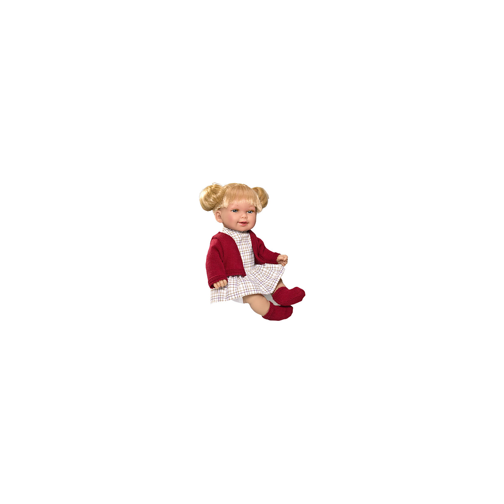Кукла Vestida de Azul Кина, блондинка с хвостиками, ОсеньКлассические куклы<br><br><br>Ширина мм: 380<br>Глубина мм: 120<br>Высота мм: 240<br>Вес г: 650<br>Возраст от месяцев: 72<br>Возраст до месяцев: 2147483647<br>Пол: Женский<br>Возраст: Детский<br>SKU: 7073753