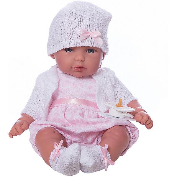 Кукла Vestida de Azul Оливия в розовом костюмеКуклы<br>Характеристики:<br><br>• вес: 450г.;<br>• материал: винил, текстиль;<br>• упаковка: коробка;<br>• размер упаковки: 38х12х42см.;<br>• для детей в возрасте: от 3 лет;<br>• страна производитель: Испания.<br><br>Кукла «Оливия в розовом костюме» бренда Vestida de Azul (Вестида Де Азул) станет желанным подарком для маленькой девочки. Она создана из высококачественных, экологически чистых материалов, что очень важно для детских товаров.<br><br>Милая куколка малышка умеющая плакать, в шикарном наряде не оставит равнодушной ни одну девочку. Игрушка имеет оптимальный размер, её рост составляет тридцать сантиметров. У неё мягкое тельце, а ножки и ручки хорошо двигаются. Оливию можно брать с собой в путешествия и на прогулки, чтобы показывать подружкам и играть вместе сними.<br><br>Играя с куклой дети могут создавать свой стиль в одежде, развивать социальные навыки, фантазию, креативность.<br><br>Куклу «Оливия в розовом костюме» можно купить в нашем интернет-магазине.<br>Ширина мм: 380; Глубина мм: 120; Высота мм: 240; Вес г: 450; Возраст от месяцев: 36; Возраст до месяцев: 2147483647; Пол: Женский; Возраст: Детский; SKU: 7073756;