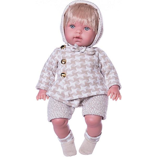 Кукла Vestida de Azul Тонино-инфант в костюме для прогулкиКуклы<br>Характеристики:<br><br>• вес: 1,350кг.;<br>• материал: винил, текстиль;<br>• упаковка: коробка;<br>• размер упаковки: 47х16х25см.;<br>• для детей в возрасте: от 3 лет;<br>• страна производитель: Испания.<br><br>Кукла «Тонино-инфант в костюме для прогулки» бренда Vestida de Azul (Вестида Де Азул) станет желанным подарком для маленькой девочки. Она создана из высококачественных, экологически чистых материалов, что очень важно для детских товаров.<br><br>Милый малыш-карапуз умеющий плакать, в шикарном наряде не оставит равнодушной ни одну девочку. Игрушка имеет оптимальный размер, её рост составляет сорок пять сантиметров. У неё мягкое тельце, а ножки и ручки хорошо двигаются. Тонино можно брать с собой в путешествия и на прогулки, чтобы показывать подружкам и играть вместе сними.<br><br>Играя с куклой дети могут создавать свой стиль в одежде, развивать социальные навыки, фантазию, креативность.<br><br>Куклу «Тонино-инфант в костюме для прогулки» можно купить в нашем интернет-магазине.<br>Ширина мм: 470; Глубина мм: 160; Высота мм: 250; Вес г: 1350; Возраст от месяцев: 36; Возраст до месяцев: 2147483647; Пол: Женский; Возраст: Детский; SKU: 7073761;