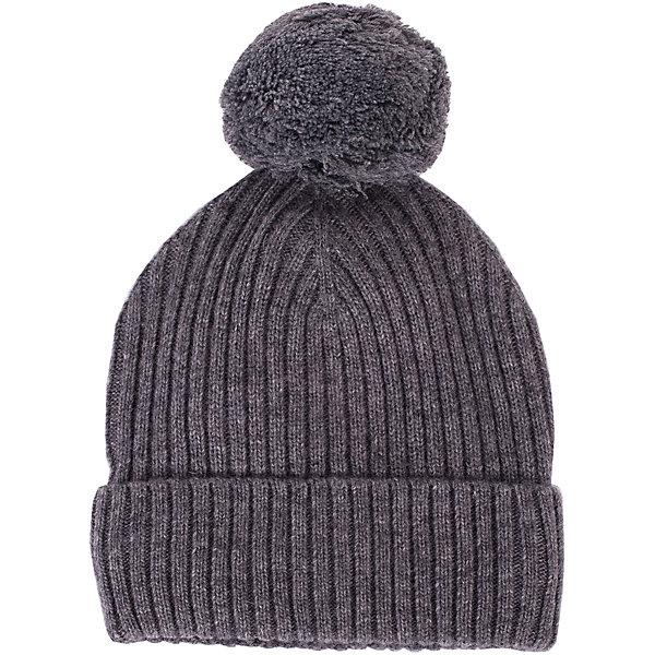 Шапка Gulliver для мальчикаДемисезонные<br>Характеристики товара:<br><br>• цвет: серый;<br>• состав: 40% шерсть, 40% вискоза, 20% хлопок;<br>• подкладка: 100% полиэстер, флис;<br>• температурный режим: от +10 до -5С;<br>• сезон: зима;<br>• особенности: вязаная;<br>• сплошная флисовая подкладка;<br>• шапка с помпоном;<br>• коллекция: Воздушная регата;<br>• страна бренда: Россия;<br>• страна изготовитель: Китай.<br><br>Вязаная шапка с помпоном для мальчика. Шапка на флисовой подкладке. Зимняя шапка для мальчика - функциональный аксессуар, способный сделать ярче и интереснее осенне-зимний ансамбль.<br><br>Шапку Gulliver для мальчика (Гулливер) можно купить в нашем интернет-магазине.<br>Ширина мм: 89; Глубина мм: 117; Высота мм: 44; Вес г: 155; Цвет: серый; Возраст от месяцев: 24; Возраст до месяцев: 36; Пол: Мужской; Возраст: Детский; Размер: 50,52; SKU: 7076674;